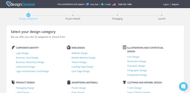 Select your design category.